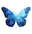 low poly butterfly design 0105 vector image vector image