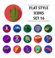 mexico country set icons in flat style big vector image vector image