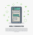 mobile phone communication vector image