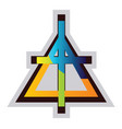 multicolor symbol a christian reformed church vector image vector image