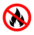 no fire sing icon vector image