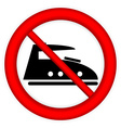 No steam iron icon vector image