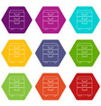office closet icons set 9 vector image vector image