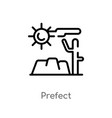outline prefect icon isolated black simple line vector image vector image