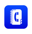 phone book icon blue vector image vector image