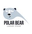 polar bear logo vector image vector image