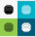 processor hardware computer pc technology icon vector image