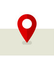 red pin map location pin icon in flat design vector image vector image