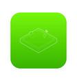 sandbox icon green vector image