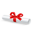 scroll paper ribbon realistic vector image vector image