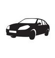 sedan-silhouette vector image vector image