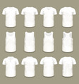 set of isolated sport t-shirts for men and women vector image vector image