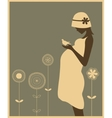 silhouette pregnant woman vector image vector image