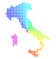 spectrum circle dot italy map vector image vector image