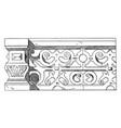 stone parapet design building borders vintage vector image vector image