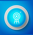 target with arrow icon isolated on blue background vector image vector image