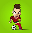 The hardcore control football cartoon vector image vector image