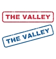 The Valley Rubber Stamps vector image vector image