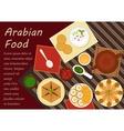 Traditional arabian cuisine menu elements vector image