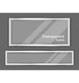 Transparent frame vector image