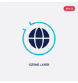 two color ozone layer icon from ecology concept vector image