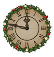 vintage wall clock with ornate dial of tree vector image