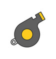whistle police related icon outline editable vector image vector image