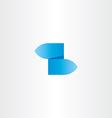 z letter blue gradient logo icon vector image vector image