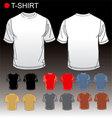 set of blank tshirts vector image