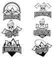 Lumberjack Character with Trendy Typographic vector image