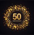 50 years anniversary isolated design