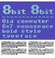 8 bit font vector image vector image