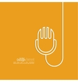 Abstract background with an old microphone vector image vector image