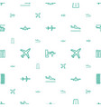 airline icons pattern seamless white background vector image vector image