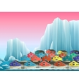 arctic greenland town vector image