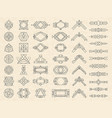 art deco geometrical shapes modern design vector image