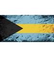 Bahamas flag Grunge background vector image vector image