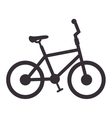 bicycle silhouette isolated icon vector image