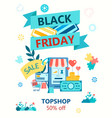 black friday concept poster vector image vector image