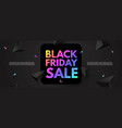 black friday sale poster template super offer 3d vector image