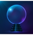 Blue magic spiritual ball vector image