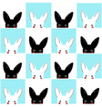 Blue White Rabbit Chess board Background vector image vector image