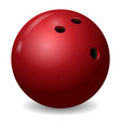 bowling ball icon realistic style vector image vector image