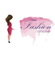 broadsheet fashion collection womens clothing vector image