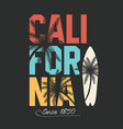 california surfing typography t-shirt graphics vector image vector image