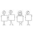 cartoon four people or vector image vector image