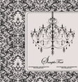 Damask invitation floral card vector | Price: 1 Credit (USD $1)