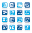 Data and Information Protection Security Icons vector image vector image