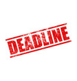 deadline stamp grunge vector image