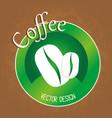 delicious coffee grains emblem vector image vector image